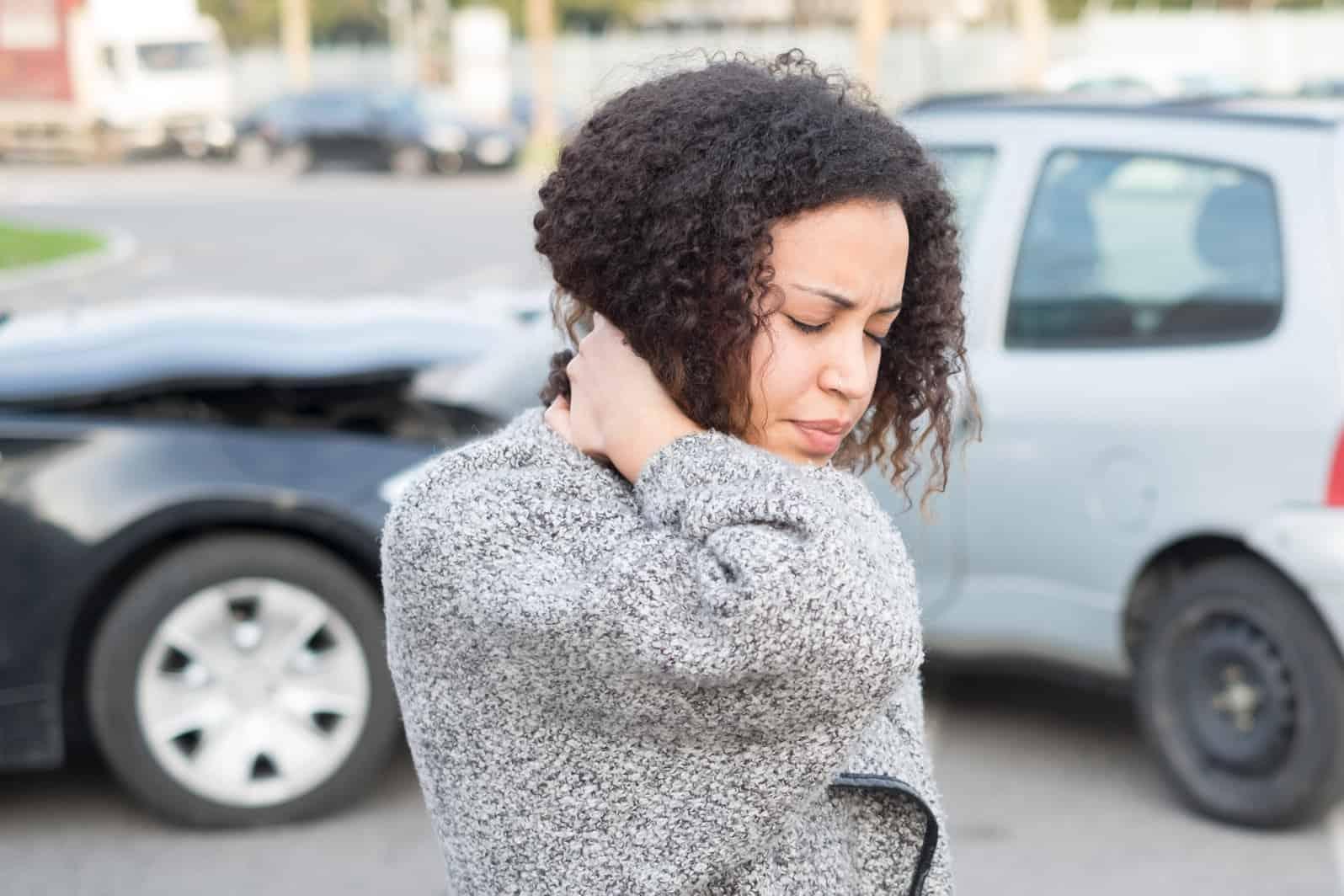 Injured woman feeling bad after having a car crash in Charlotte NC